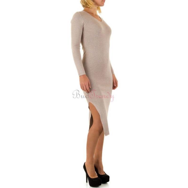 b22dcbc9d5bf Béžové svetrové šaty na zimu
